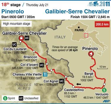 Tour de France 2011 - 18. etapi teekond