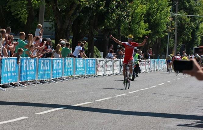 Haapsalu 13. Rattaralli võitis finišis esimesena Gert Jõeäär, foto Aerobike Cycling Agency