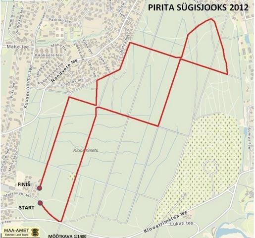 Pirita Sügisjooks 2013 rajaskeem
