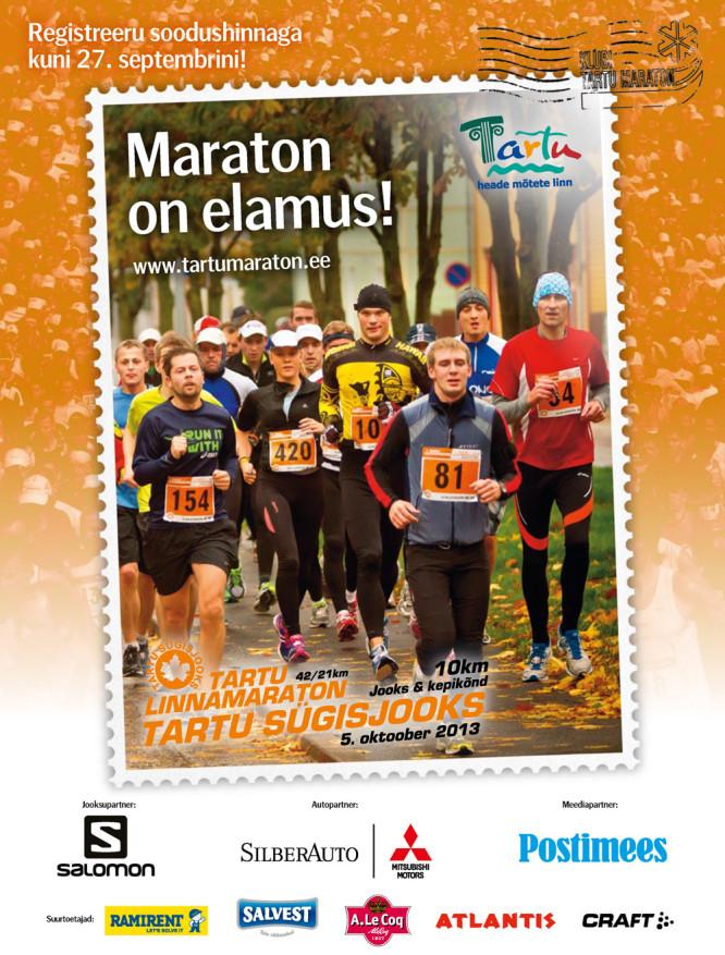 Tartu Linnamaraton 2013 ja Tartu Sügisjooks 2013